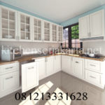 design kitchen set klasik putih