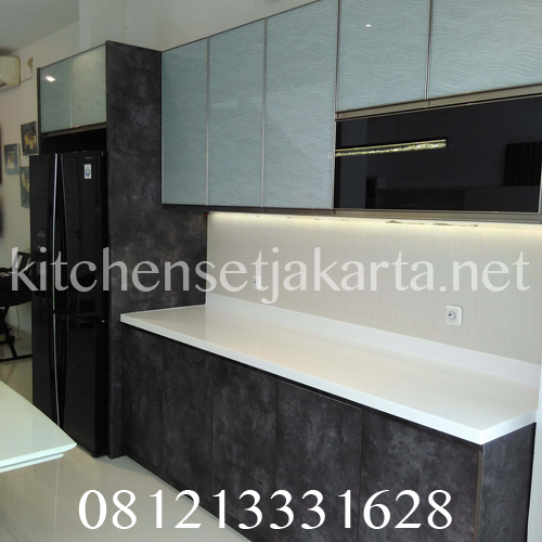kitchen set hpl motif batu alam