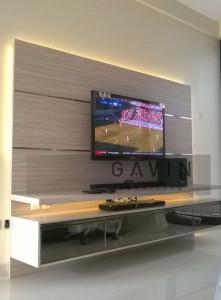 Backdrop TV Interior Rumah Menarik