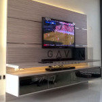Backdrop Tv Klien Bu Ana Di Green Andara Jakarta Selatan
