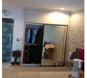 Lemari Pakaian Sliding Dengan Kaca Klien Toto Pondok Gede Kitchen