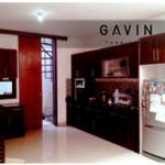 Gambar Kitchen Set HPL Ibu Astri Di Ciputat Berwarna Coklat