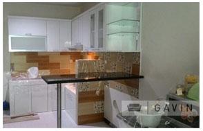 Harga kitchen set minimalis dengan mini bar untuk klien di for Harga kitchen set aluminium