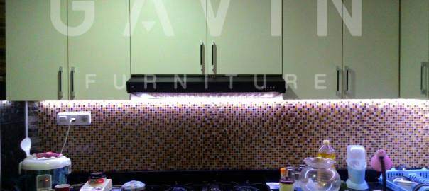 Kitchen Set Minimalis Murah Dengan HPL Milik Klien Cipinang