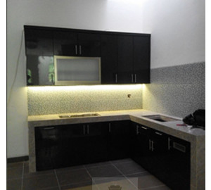 Kitchen Set Minimalis Murah Finishing HPL Gading Serpong