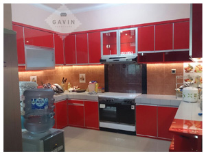 Model Kitchen Set Letter U Klien Ciputat
