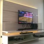 Contoh Backdrop TV Minimalis Dengan HPL