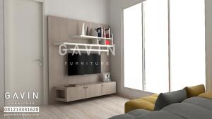 Desain 3D Backdrop TV Pak Ari