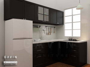 3D Kitchen Set Minimalis Dengan Minibar