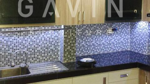 Model Kitchen Set Kombinasi HPL Ibu Herlambang Di Kalibata Jakarta Selatan