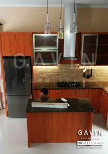Model Kitchen Set Warna Coklat di Cinere