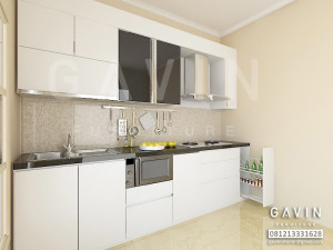 Kitchen set minimalis murah kitchen set jakarta for Kitchen set hitam