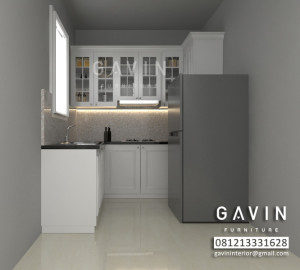 Desain 3D Kitchen Set Finishing Duco