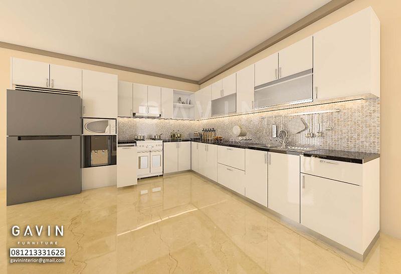Desain 3d kitchen set ibu jati di cipete jakarta selatan for Kitchen set jakarta barat