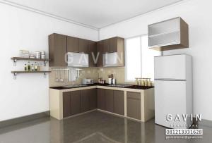 Gambar 3D Kitchen Set Pak Marbun Serpong