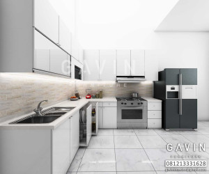 Hasil 3D Kitchen Set By Gavin Furniture