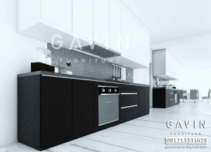 Hasil 3D Kitchen Set Model Minimalis