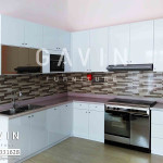 Kitchen Set Minimalis HPL White Glossy Pak Benny Bintaro