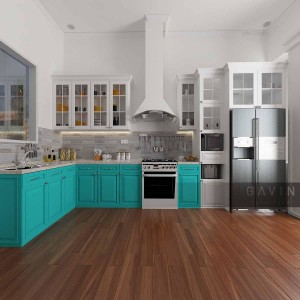gambar 3D kitchen set finishing duco