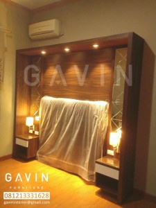 headboard finishing hpl kombinasi cermin by gavin
