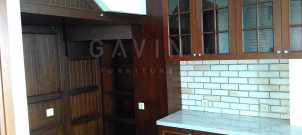 model kitchen set 2016 finishing melamic di pondok bambu