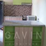 Kitchen Set Minimalis Dengan HPL Hijau