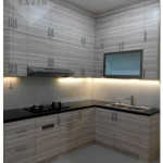 Kitchen Sets Minimalis Finishing HPL Di Serpong
