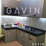 model kitchen set minimalis graha raya bintaro by gavin