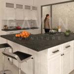 Desain 3D Kitchen Set klasik di Bintaro