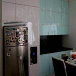 Q2394 design kitchen set minimalis finishing HPL + mika