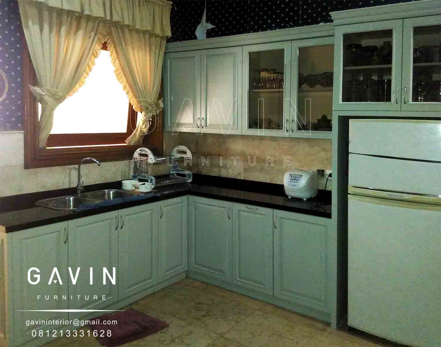 Design Kitchen Set Klasik Letter L Di Menteng Kitchen