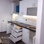 finishing HPL supreme 2219 glossy kitchen set project di kelapa gading