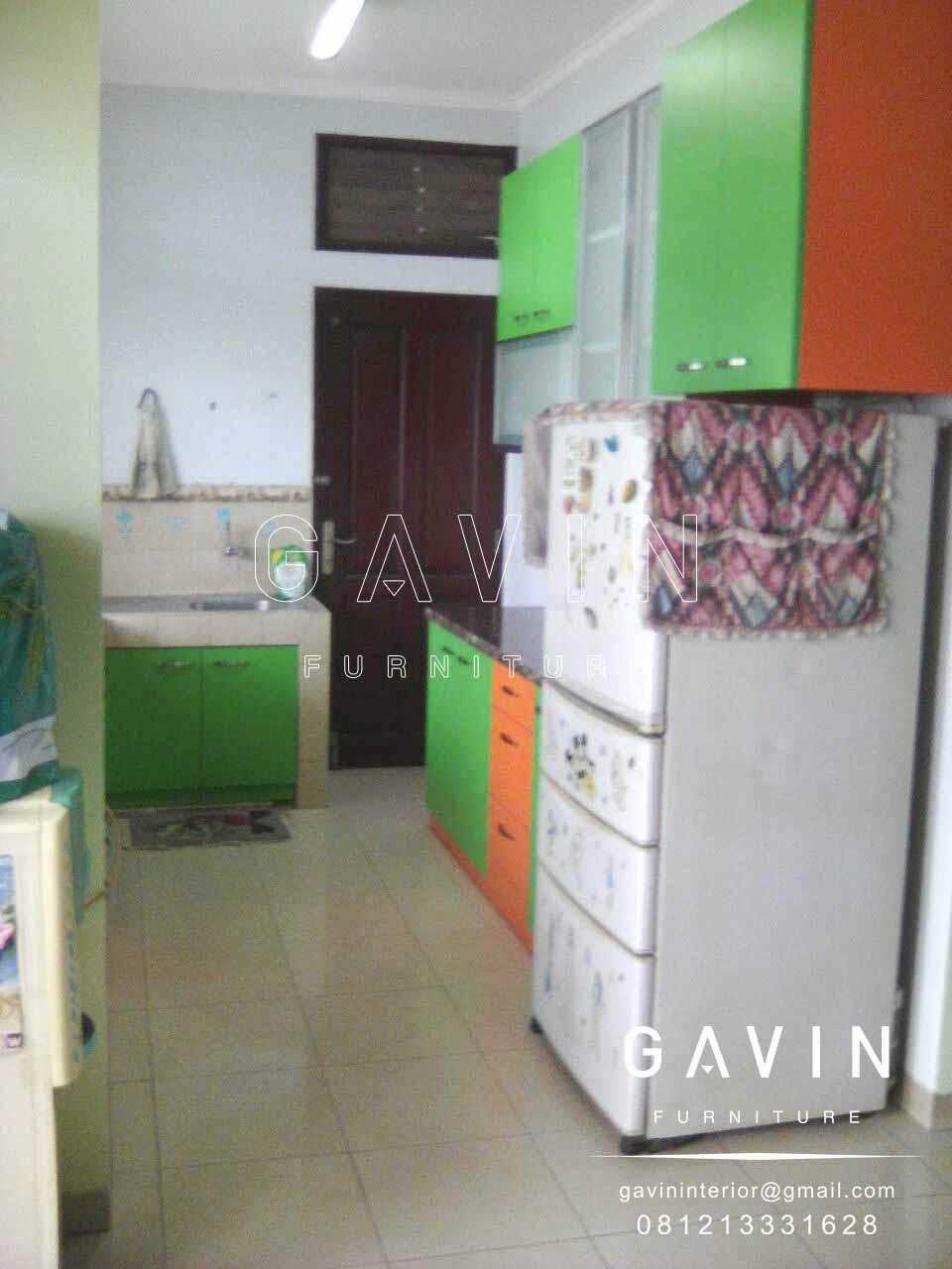 Kitchen Set Minimalis Hijau Orange Kitchen Set Jakarta