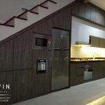 model kitchen set bawah tangga minimalis letter i dari gavin