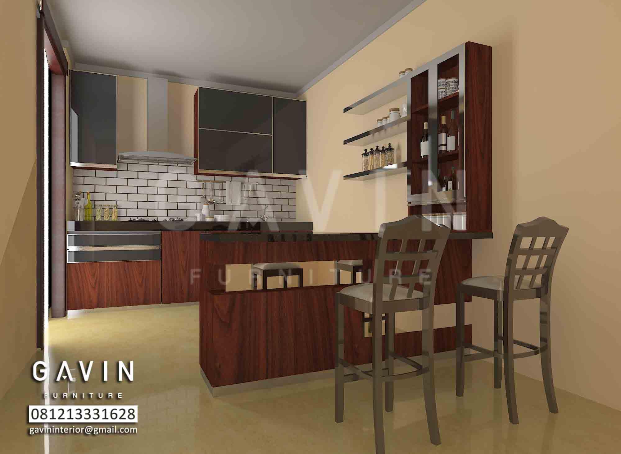 Model Kitchen Set Minimalis Dengan Mini Bar Klien Ciracas Kitchen