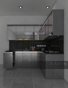 design kitchen set minimalis modern full kaca
