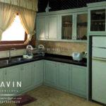 kitchen set klasik letter L di menteng