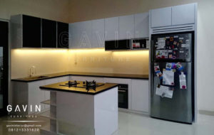 Q2175 kitchen set design minimalis modern di kalimalang