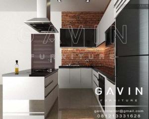 q2175 desain kitchen set model minimalis dengan island