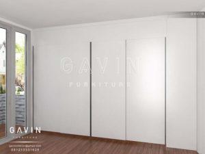 Q2380 desain lemari sliding finishing duco