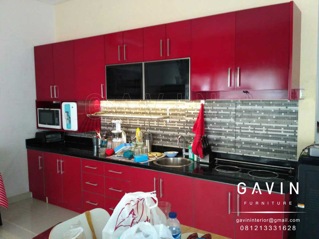 Jual kitchen set minimalis jakarta gavin furniture for Kitchen set jual
