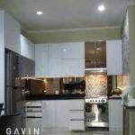 pembuatan kitchen set minimalis letter L