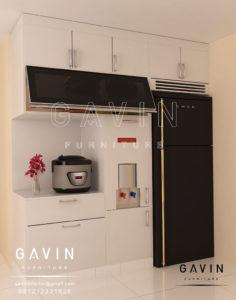 Q2638 jual lemari dapur bersih finishing duco semi gloss