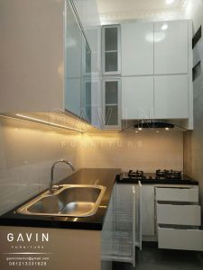 contoh kitchen set finishing duco putih glossy Q2597