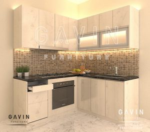 desain kitchen set minimalis modern by gavin