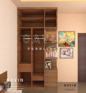 design lemari baju minimalis lengkap dengan buffet Q2604