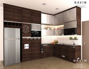 contoh design kitchen set minimalis modern terbaru project Bintaro Q2293