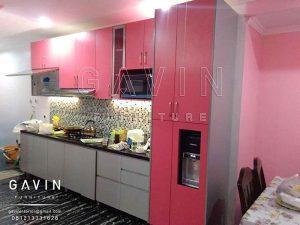 jual kitchen set hpl pink TH 018 AA bright pink Q2652