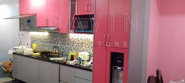 jual kitchen set hpl pink TH 018 AA bright pink Q2652