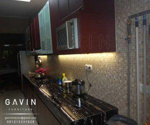 kitchen set hpl TH 805 J Red Chesnut warna merah kecoklatan Q2805